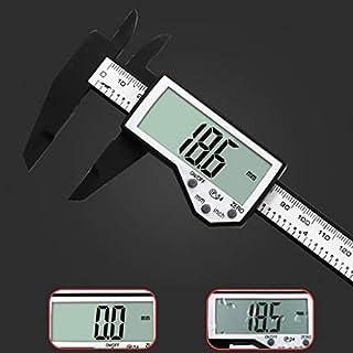 Popular 150MM 6inch LCD Digital Electronic Vernier Caliper Gauge Micrometer,Digital Display Screen Vernier Caliper,Kitchen Home Measuring Tool (Black)