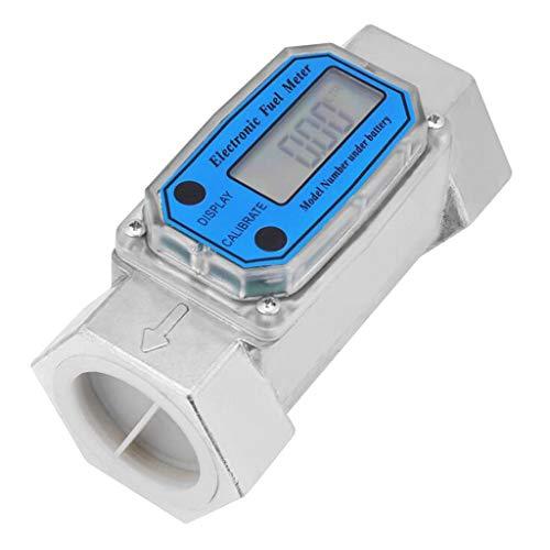 MagiDeal Digitale Turbine Durchflußmesser Anemometer Flow Meter für Gas Öl Kraftstoff Chemikalien Wasser, LLW-25 / LLW-40 - Blau LLW-40 - Digital Flow Meter