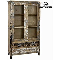Vitrina 2 puertas madera decap - Colección Poetic by Craften Wood