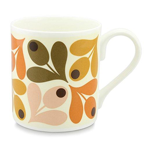 Orla Kiely Mug en porcelaine Orange Motif glands