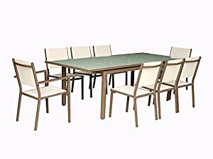 Chalet-Jardin ENSEMBLE PHILADELPHIE composé d'1 table + 4 chaises +2 fauteuils