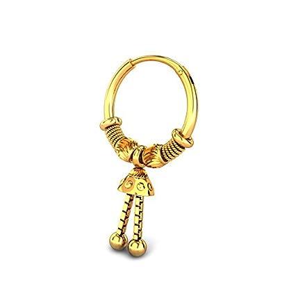 Candere By Kalyan Jewellers 22k (916) Yellow Gold Mystee Hoop Earrings for Women