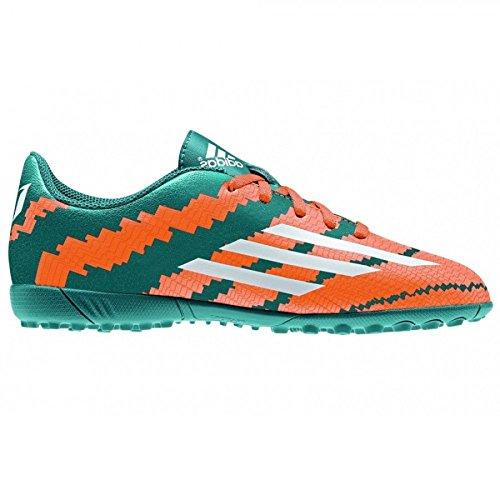 Adidas Messi 10.4 Tf J Stivali Verde / Arancione / Argento