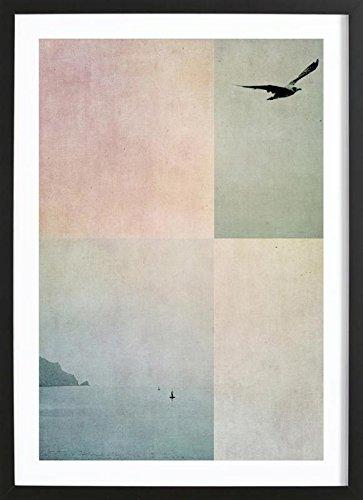 """JUNIQE® Bild mit Holzrahmen 30x45cm Abstrakte Landschaften - Design """"Fly Away"""" (Format: Hoch) - Wandbilder, Gerahmte Bilder & Gerahmte Poster von unabhängigen Künstlern - Kunst für's Wohnzimmer & Esszimmer - entworfen von Ingrid Beddoes …"""