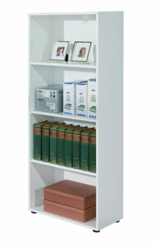 Links - Simply 11 libreria. Dim. 60x30x145h cm. Nobilitato. Bianco.