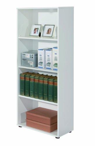 Links 13500030 Regal weiß Bücherregal Wandregal Aktenregal Büroregal Büro Wohnzimmer 3 Böden
