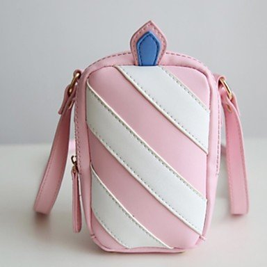 Women Shoulder Bag PU All Seasons Casual Baguette Ruffles Zipper Blushing Pink Blue,Blushing Pink