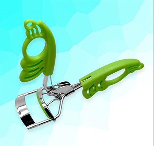 Payonr Tragbare Travel Beauty-Werkzeuge Wimpernzange Profi Lash Lockenwickler Werkzeug Make-up-Tool (Farbe : Green) - Wimpernzange Beauty-make-up