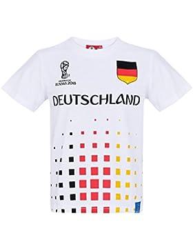 2018 FIFA World Cup Chicos Camiseta Manga Corta - Blanco