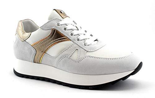 Nero Giardini 7741 Neve Bianco Scarpe Donna Sportive Sneakers Lacci 37