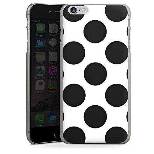 Apple iPhone X Silikon Hülle Case Schutzhülle Punkte Dots Rockabilly Hard Case anthrazit-klar