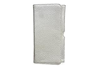 ATV PU Leather CREAM WHITE COLOR Pouch Case Flip Cover For Huawei Ascend Y550