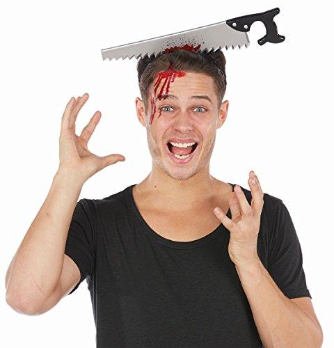 Preisvergleich Produktbild Kostüm Zubehör Haarreif Säge im Kopf Halloween