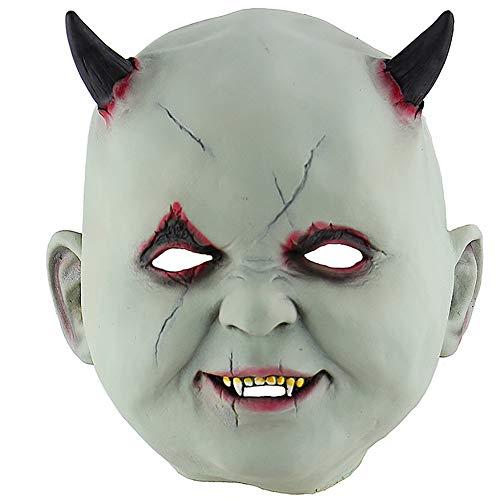 Kostüm Vampir Realistische - Dyda6 Halloween-Zombie-Puppen-Maske, gruselig, realistischer Teufel, Vampir-Kopfmasken, Kostüm für Maskenball, Party, Cosplay