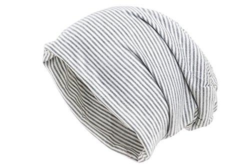 Shenky - Bonnet fin en jersey - rayures Gris Clair