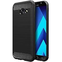Samsung Galaxy A5 2017 5.2'' Funda,Simpeak Negro TPU Samsung Galaxy A5 Carcasa Funda Suave Flexible piel Resistente a los Arañazos silicona protectora para Samsung A5 2017