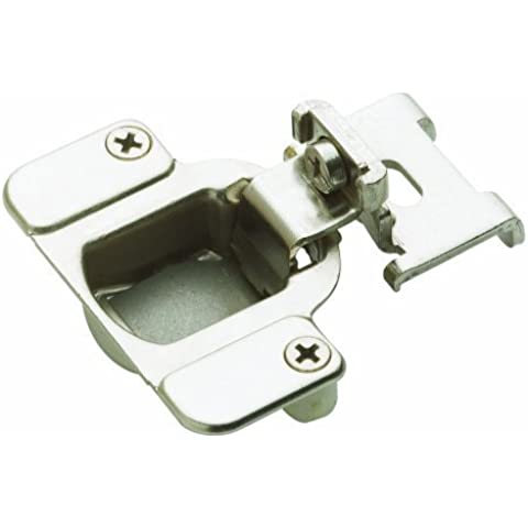 Amerock BP2811I1214 Matrix Concealed Hinge, 1-7/8in(48mm) Hole Patern Hinge with 3/8in(10mm) Overlay - Nickel by Amerock