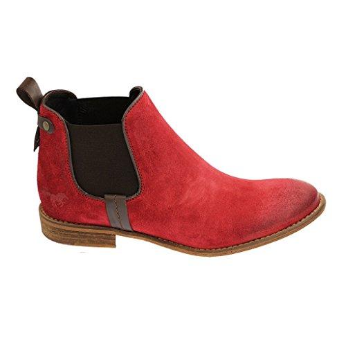 Mustang Chelsea Boot, Stivaletti a gamba corta mod. Chelsea, imbottitura leggera donna Rosso (rosso)