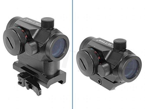 Micro RedDot Leuchtpunktvisier 1x20 - Mit Höhenadapter und Schnellspannveschluss * Reflexvisier Zielvisier Zielfernrohr Visier