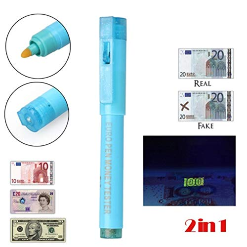 PiniceCore 2en1 Útil luz UV Detector Billetes Falsos