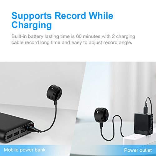 Mini Microcamere Spia AOBO 1080P HD Bottone Nascosta Telecamera WiFi IP Wireless Rilevamento di Movimento Portatile Videocamera di Sorveglianza Video Registrazione in Loop per iPhone Android - 2
