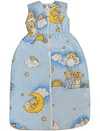 """DAS ORIGINAL BOMIO® Baby Sommer-Schlafsack """"Bärchen (Hellblau)"""", Öko-Tex Standard 100, Größen von """"70 cm bis 110 cm"""""""