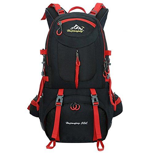 Imagen de  de 50 litros, ideal para deportes al aire libre, senderismo, trekking, camping travel, escalada. bolso impermeable del alpinismo, daypacks que suben del recorrido, , . negro  alternativa