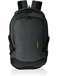 Gear Printed 36 ltrs Charcoal Grey and Yellow Casual Backpack (BKPOTLNR43812)