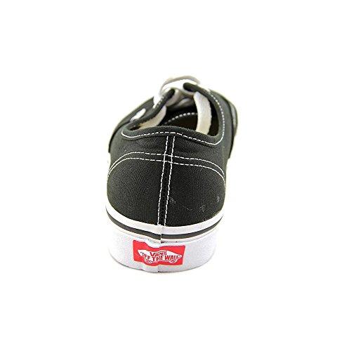 Vans Unisex-Erwachsene Authentic Sneakers Schwarz (Schwarz/Wei)