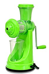 Jay Balaji Fruit & Vegetable Manual Juicer Mixer Grinder With Steel Handle (Green)