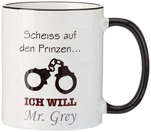 Tasse Mr. Grey - Scheiss auf den Prinzen... - für Fans von Shades of Grey (Filme Auf Dvd, 50 Shades Of Grey)