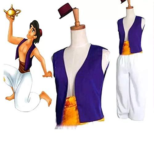 thematys Aladdin Kostüm-Set 3-teilig für Herren - Hut, Weste & Hose perfekt für Fasching, Karneval & Cosplay - Einheitsgröße 160-180cm