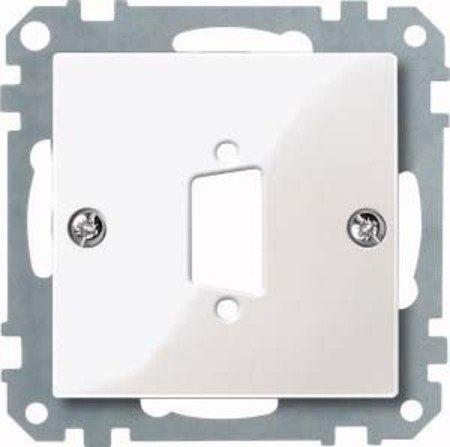 D-subminiatur-stecker (Merten 467619 Zentralplatte für D-Subminiatur-Steckv. 9-polig, polarweiß glänzend, System M)