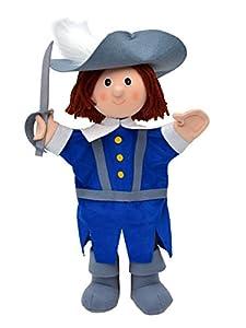 MU mubrno 26676b de Mosquetero Azul 34cm, marioneta de Mano