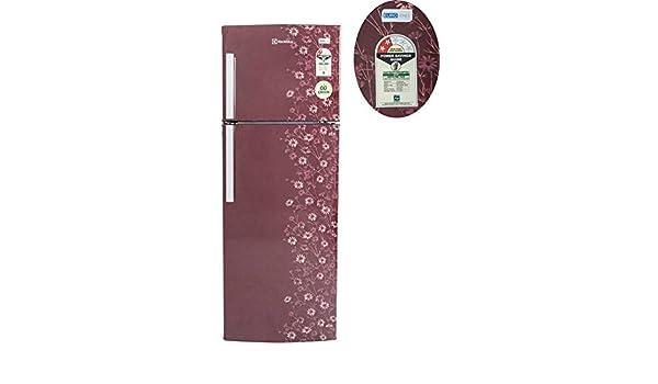 electrolux 235 l 2 star frostfree double door ep242lmd maroon daisy amazonin home u0026 kitchen