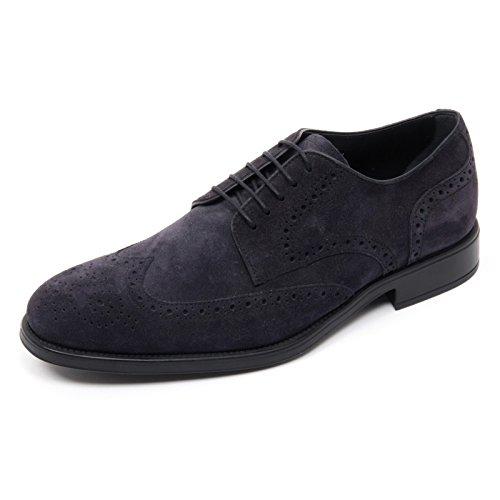 B8331 scarpa inglese uomo TOD'S DERBY BUCATURE scarpe blu denim scuro shoe man blu denim scuro