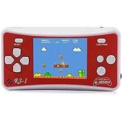 """E-WOR Console de Jeux vidéo Portable rétro 8 Bits avec 162 Jeux - Écran LCD de 2.5"""" Rouge(Red)"""