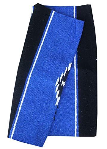 AMKA Western Navajo Satteldecke ca. 76x152 cm Westerndecke, Farbe: blau