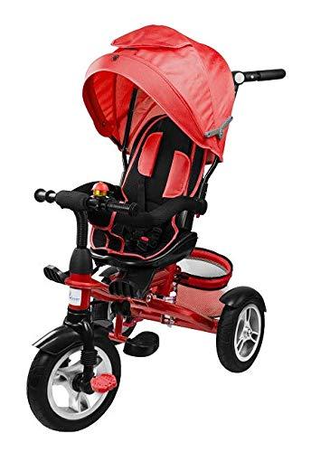 Profiseller Chiccot - 8 en 1 Triciclo con Ruedas De Espuma, Asiento Giratorio Y Amortiguadores. Una Bicicleta Modular Muy Segura para Tu Hijo (Rojo)