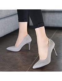 0c1bbdce Yukun zapatos de tacón alto Zapatos de tacón Alto con tacón de Aguja para  Mujer Verano