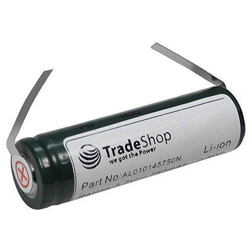 Trade-Shop Premium Li-Ion Akku 3,7V / 750mAh für Philips Speed XL HQ7363 HQ7360 RQ1095/22 RQ1050 HQ8250 HQ9190 HQ8894 HQ7200 HQ7240 ersetzt SE VS145000V, K V112MSF17Z, SE US14500GR 3.7