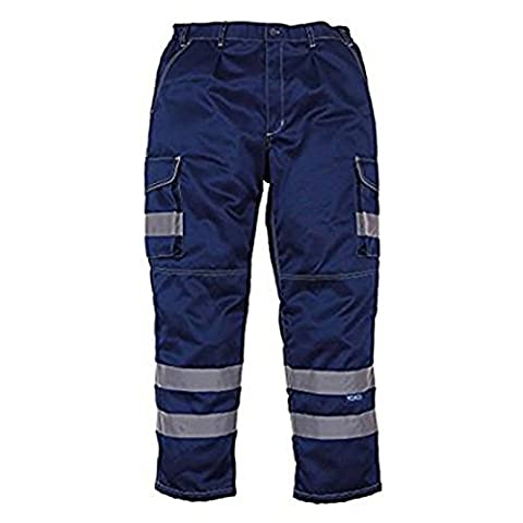 YOKO Men's Hi-vis Polycotton Cargo Trousers with Knee Pad Pockets