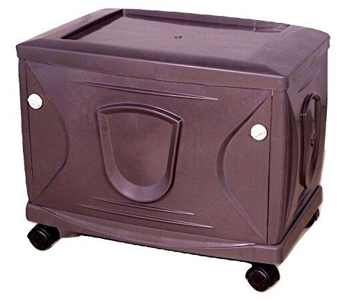 Vachann Ups - Vg Plastic Cabinet - 61 X 16 X 120 Cm, Grey, Pack Of 3