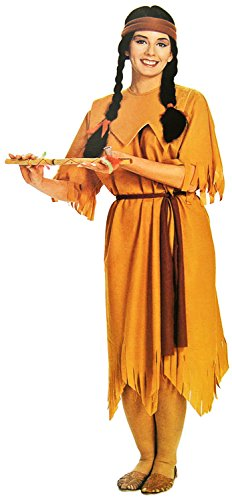 Nord Kostüm Halloween (Indianerin Damen-Kostüm 3-tlg. Ur-Einwohner-Verkleidung Häuptling Apache Frau Wilder Westen Erwachsene Sexy Fasching Karneval)