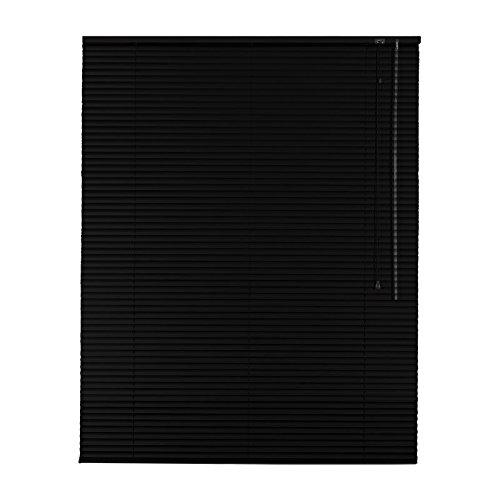 Easy-Shadow Hochwertige Aluminium Jalousie Rollo Alu Jalousette 85 x 230 cm / 85x230 cm in Farbe schwarz - Bedienseite rechts / Maßanfertigung