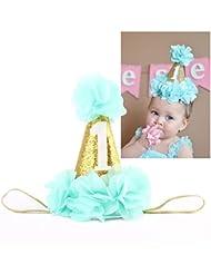 Emitha 1 Paquete recién nacido y bebés arco del pelo de la venda elástico bebé turbante pelo niñas Corona Reina diadema