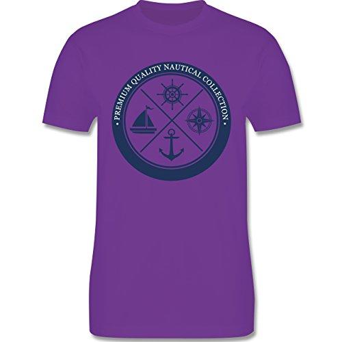 Shirtracer Schiffe - Premium Quality Nautical Collection Sailing - Herren T-Shirt Rundhals Lila