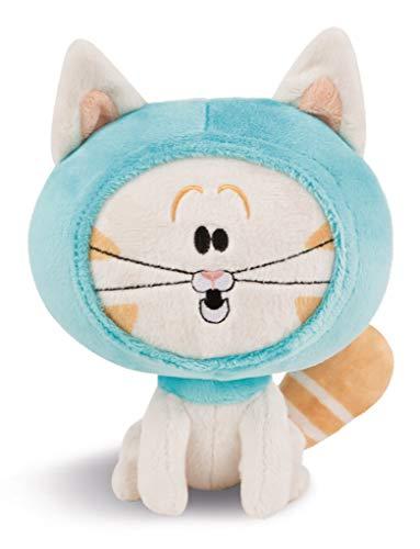 Nici 44240 Kuscheltier Katze Hoodie 18cm sitzend, weiß, aus der beliebten Serie Pat der Hund