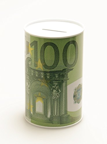GW Handels UG Spardose Geldschein Euroschein Metall Sparbüchse Geldschein Sparschwein Euro Sparen (100 Euro) -