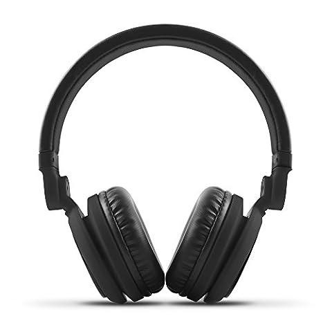 Energy Sistem Headphones DJ2 (casque style DJ, pliable, rotation 180º, câble amovible, microphone et mains libres)- Noir